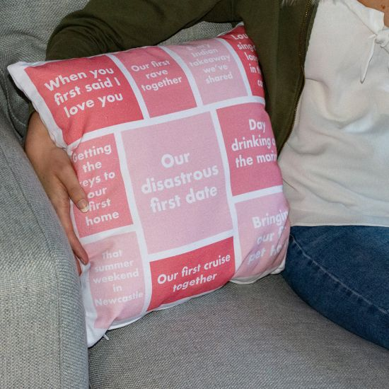 EXCLUSIVE Personalised Top 10 Memories Cushion - Lifestyle