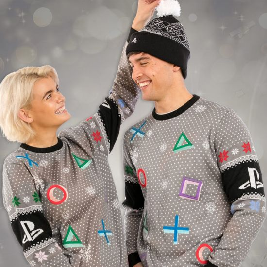 PlayStation Buttons Christmas Jumper - lifestyle