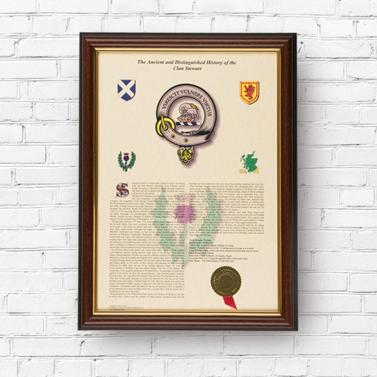 Scottish Clan History Print - Lifestyle