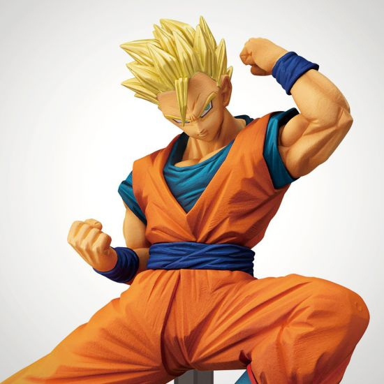 Dragonball Super Banpresto Figure Super Saiyan Son Gohan (Adult) 16cm - grey background