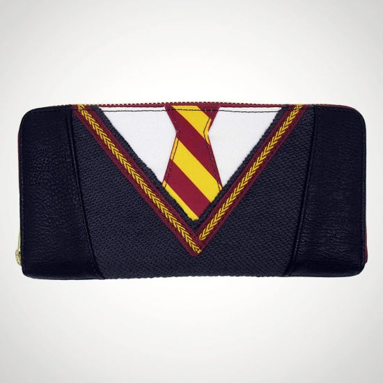 Harry Potter Faux Leather Zip Purse - Grey Background