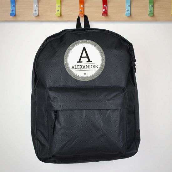 Personalised Initial Backpack - Lifestyle