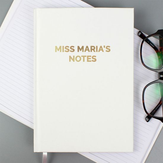 Personalised Gold Message A5 Notebook - Lifestyle