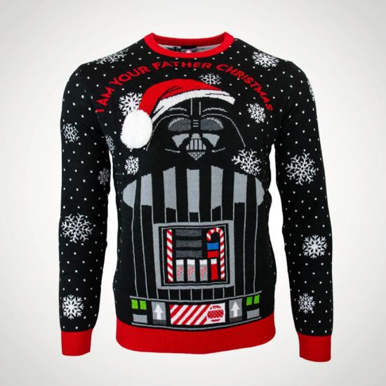 "Star Wars ""I Am Your Father"" Christmas  Jumper - Grey Background"