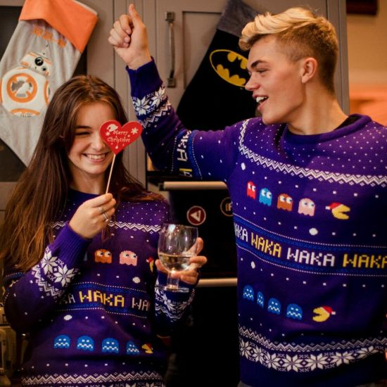 Pac-Man Christmas Jumper - Lifestyle