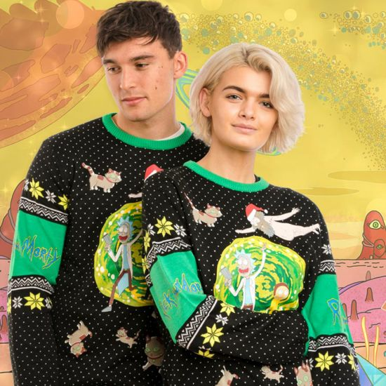 Rick and Morty Christmas Jumper - Lifestyle