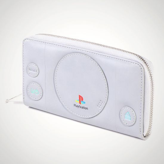 Playstation Silver Ladies Wallet - grey background