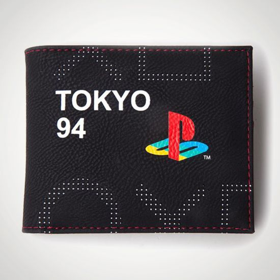 Playstation Tech 19 Matte Wallet - grey background