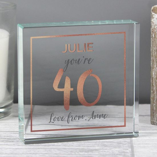 Personalised Birthday Rose Gold Crystal Token - Lifestyle