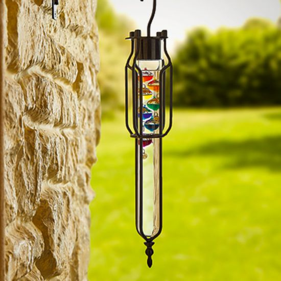 Rainbow Gallileo Thermometer - lifestyle