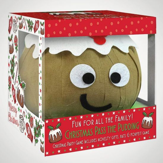 Pass the Parcel Pudding - Grey Background