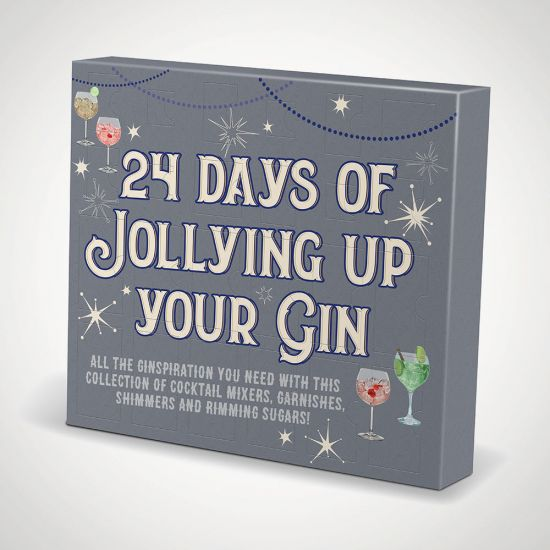 Jolly Gin Advent Calander - grey background