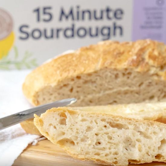 Mad Millie 15 Minute Sourdough Kit on grey background