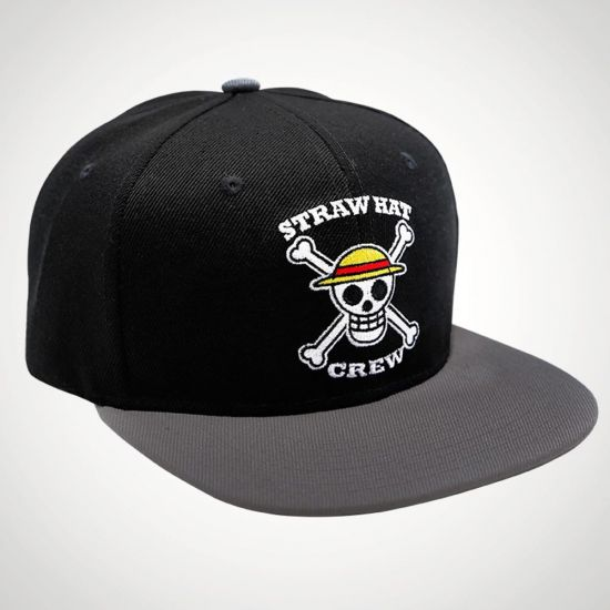 One Piece Snapback Skull Luffy - Grey Background