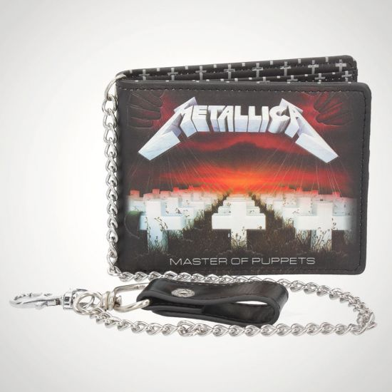 Metallica Master of Puppets Wallet - grey background