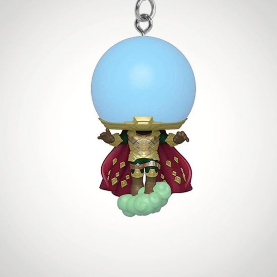 POP Keychain: Marvel - Spider-Man FFH - Mysterio - grey background