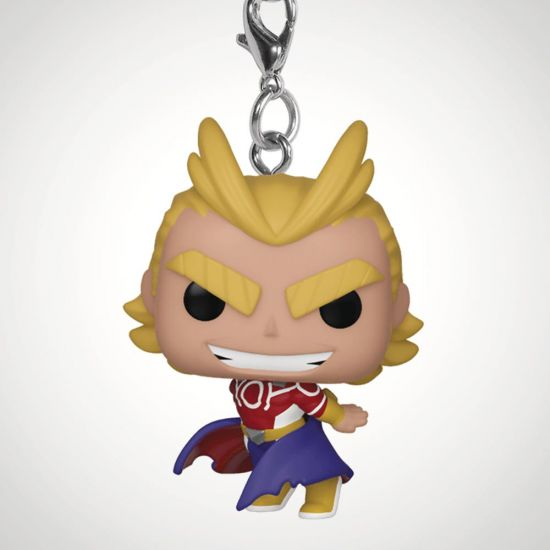 POP Keychain: MHA - All Might (Silver Age) - grey background
