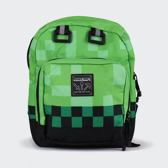 Minecraft Mini Block Green Backpack - grey background
