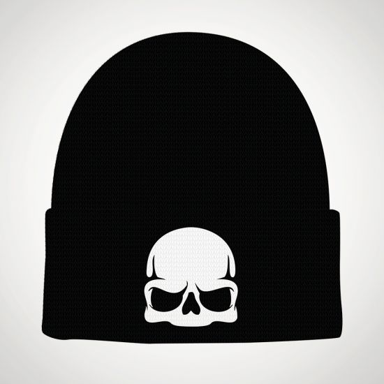 Call Of Duty Entartica Skull Beanie - grey background