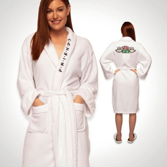 FRIENDS Central Perk Bathrobe, front and back