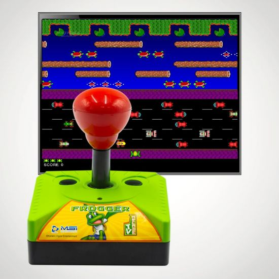 Frogger Plug and Play Arcade Game - Grey Background