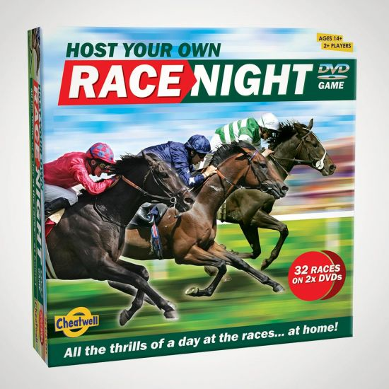 Host Your Own Race Night - grey background