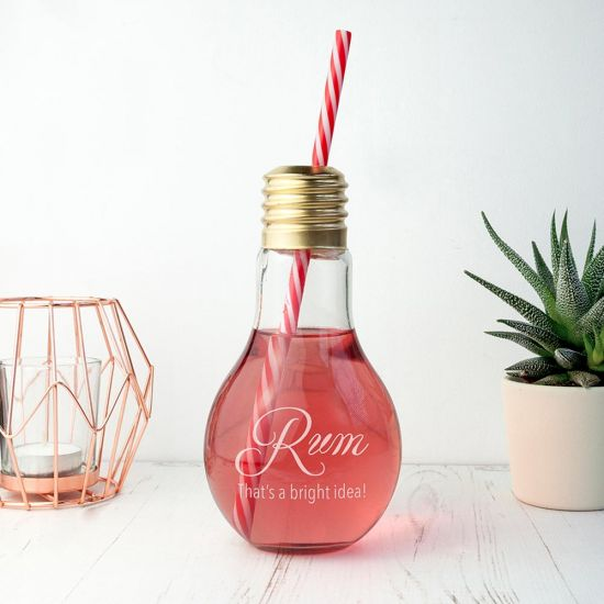 Personalised Bright Idea Lightbulb Cocktail Glass - lifestyle