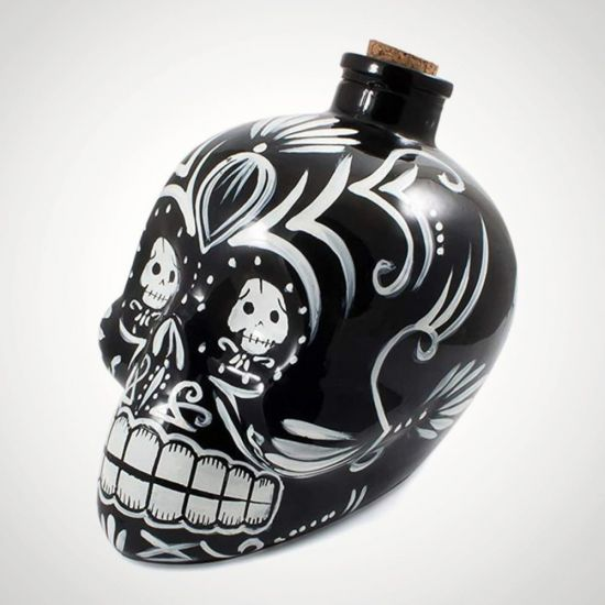 Day of the Dead Skull Decanter- grey background