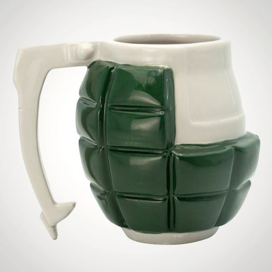 My Hero Academia Bakugo Grenade 3D Mug - Grey Background