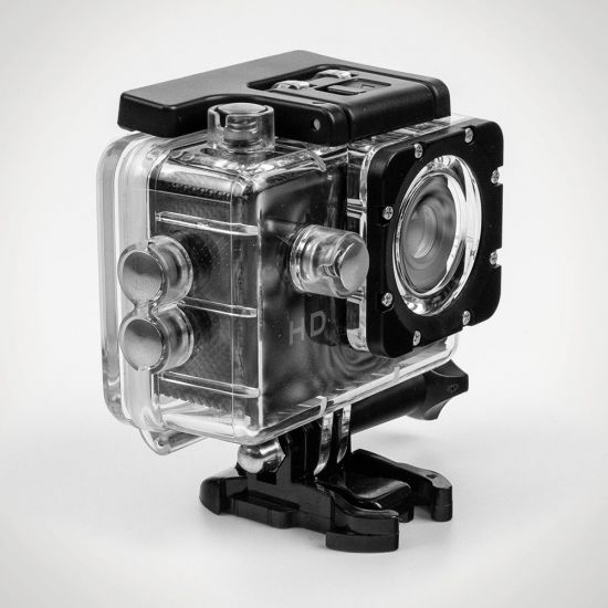 RED5 Waterproof Action Camera - Grey Background