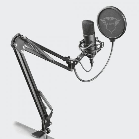 GXT 252+ Emita Plus Streaming Microphone - grey background