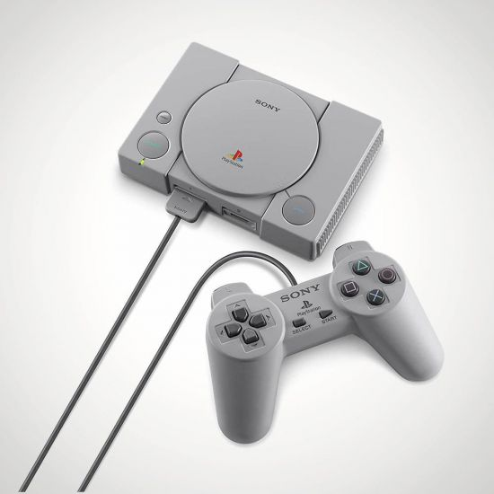 Sony PlayStation Mini Console - Grey Background