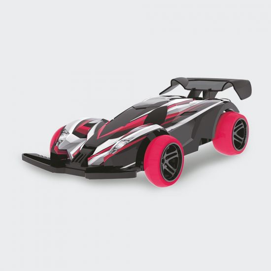 Red High Speed 1.24 Remote Car - Grey Background