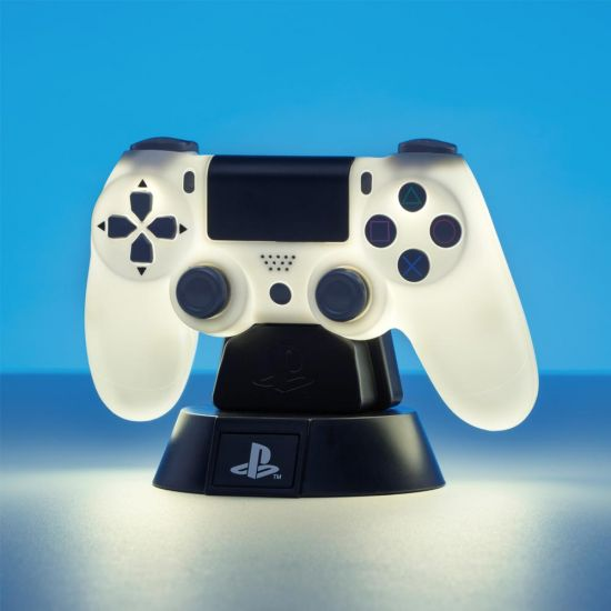 Playstation 4th Gen Controller Icon Light BDP on blue background