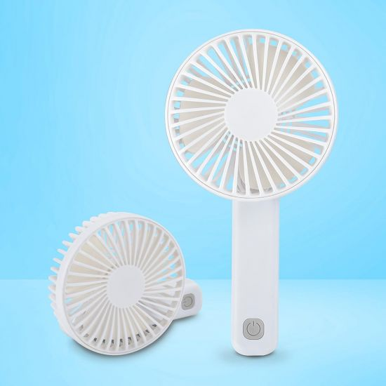 BeCool Folding rechargable fan white grey background
