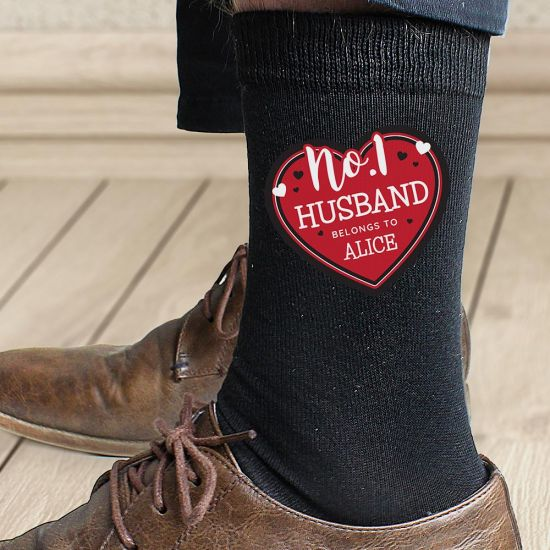 Personalised Hearts No.1 Men's Socks - Lifestyle
