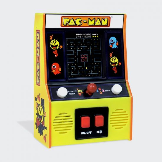 Pac-Man Mini Arcade Game with Colour Screen - Grey Background