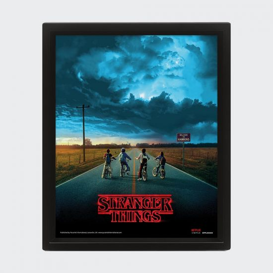 Stranger Things Mind Flayer 3D Lenticular Poster - Grey Background