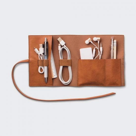 Travel Tech-Tidy Brown - grey background
