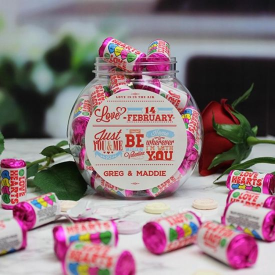 Be My Valentine Love Hearts Sweet Jar  - LIFESTYLE