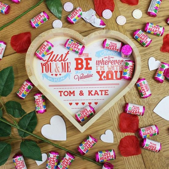 Be My Valentine Wooden Love Heart Large - Lifestyle