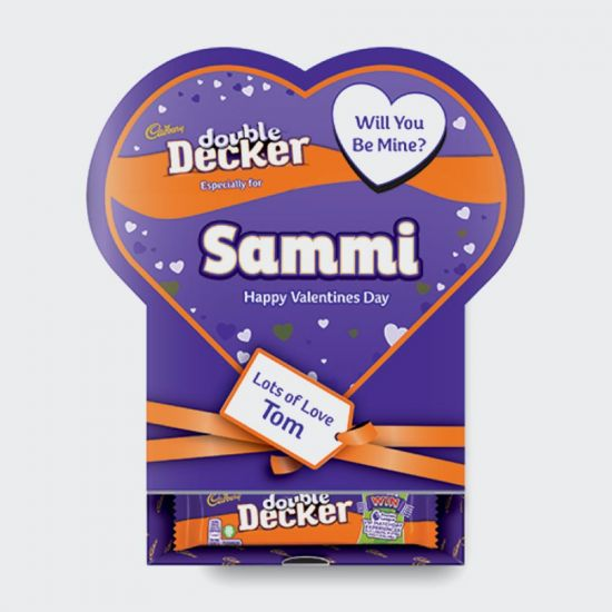 Cadbury Double Decker Favourites Valentines Box - grey background