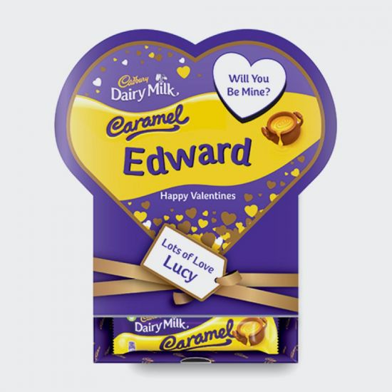Cadbury Dairy Milk Caramel Favourites Valentines Box - grey background