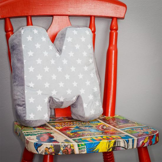Alphabet Letter Cushions - Grey Background