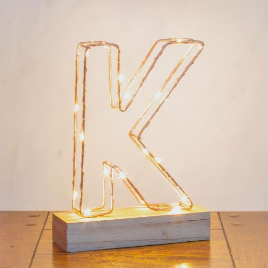 Wire Light Letters - Grey Background
