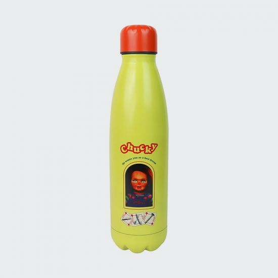 Chucky Metal Water Bottle - grey background