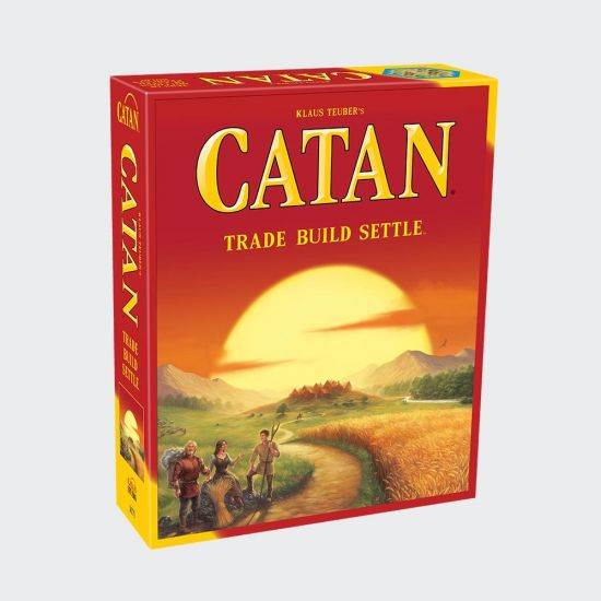 Catan Board Game - grey background