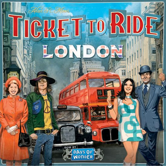 Ticket to Ride London Board Game - Grey background