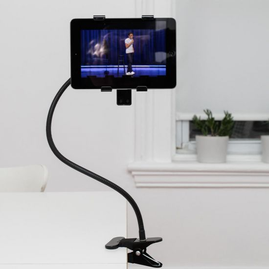 Gooseneck Tablet Holder - grey background