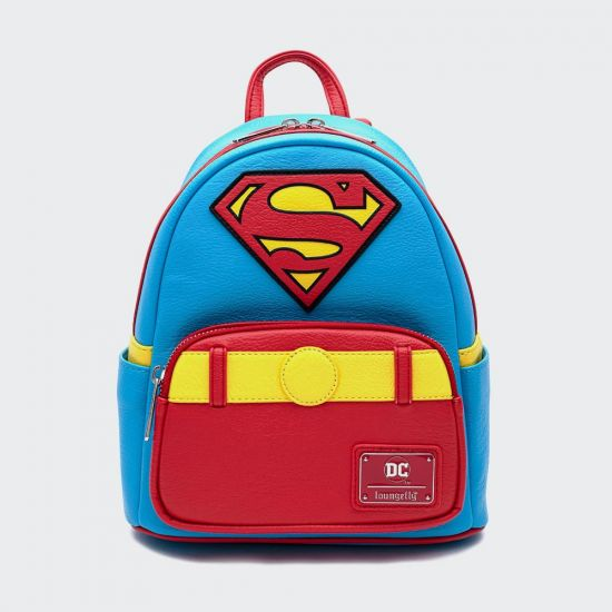 DC Vintage Superman Cosplay Loungefly Mini Backpack